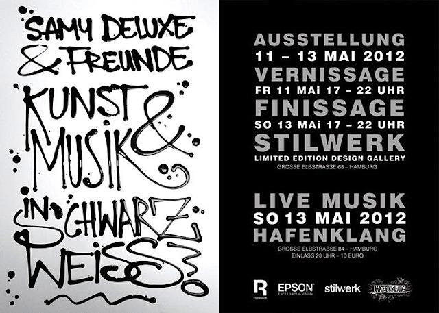 Bevorzugt Samy Deluxe & Freunde, Kunst und Musik in Schwarz Weiss  MO46