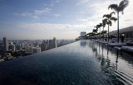 Pool auf dem dach singapur