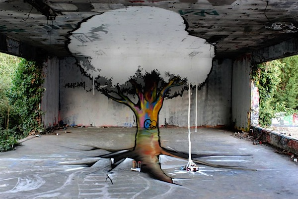 the amazing graffiti tree by tsf crew pics clips. Black Bedroom Furniture Sets. Home Design Ideas