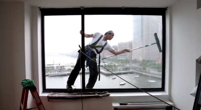 ... Window Cleaners, has battled dirt and grime high above New York City
